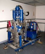 Rosenmund Filter Dryer, 316L product contact areas. Approximately .2 square meter. Approximately