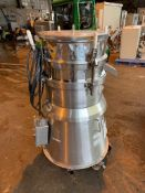 Russel Finex Sieve, Model 16300, Stainless Steel Construction. Base mounted. Serial# A1906.