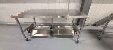 Stainless Steel Table w/ Casters