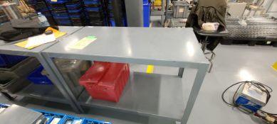 Grey Steel Work Bench 2-tier