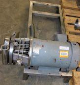 3418989 Waukesha Cherry Burrell 10000225075-10 Pump w 10hp Motor on SS Base