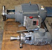 3418992 Waukesha Cherry Burrell Pump w Baldor 15HP Electric Motor & 3418991 Waukesha Cherry