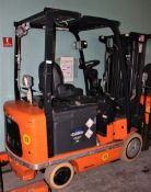 3418878 Rico DSD-EX-60 36v Electric Forklift sn 31008 w Battery 3000lb Lift Capacity Explosion Proof