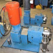 3503654 Waukesha Cherry Burrell Pump w Waukesha Gear w Baldor 10hp Motor w Metal Base