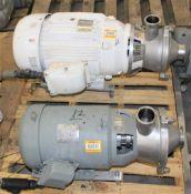 3418975 Alpha Laval Pump w 10 hp Motor & 34170? NO PIX