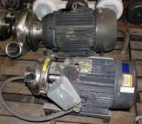 3418985 Waukesha Cherry Burrell Mdl4BJ-F Pump w 10hp Baldor Motor & Waukesha Cherry Burrell Pump w