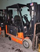 3418887 Rico DSD-EX-60 36v Electric Forklift sn 31007 w Battery 3000lb Lift Capacity Explosion Proof
