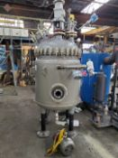 100 Gal Dedietrich Glass lined Reactor, 150/150#