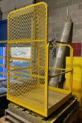 Forklift safty lift cage