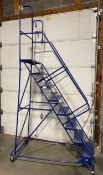 Eight step rolling ladder