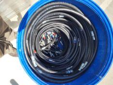 "Nine 3/8"", eight and half foot viton hoses"