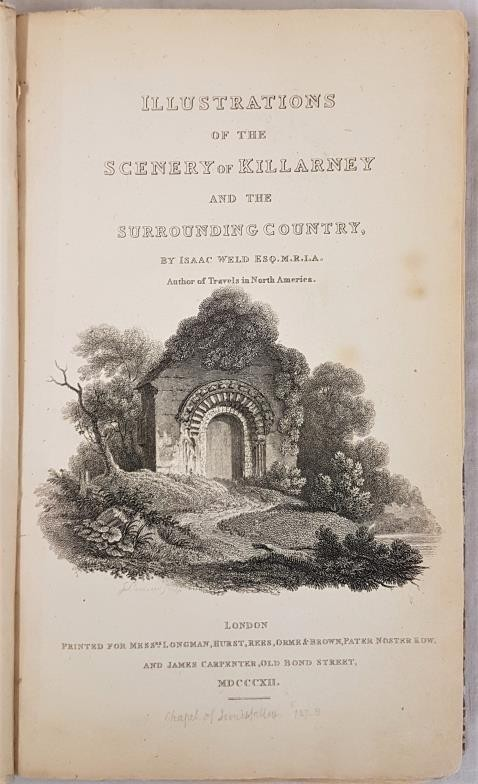 WELD, Isaac. Illustrations of the Scenery of Killarney and the Surrounding Country. With - Image 2 of 6