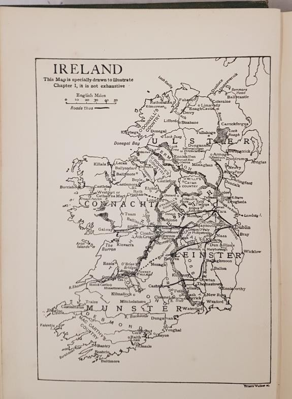 Alice Stopford Green. The Makings of Ireland and Its Undoing. 1909. 1st Map; and C. Maxwell. - Image 3 of 4