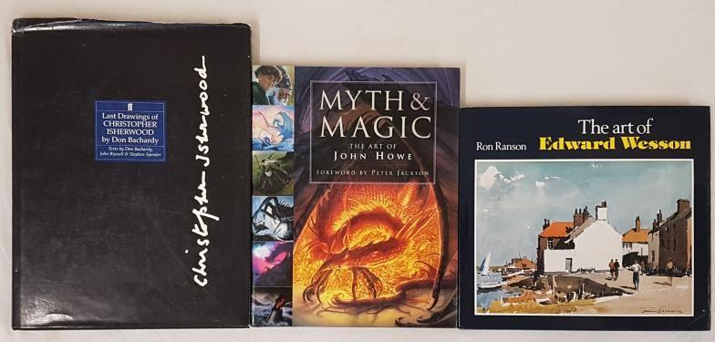 Art: Last Drawings of Christopher Isherwood, Faber 1990, Folio, dj. Myth and Magic, The Art of