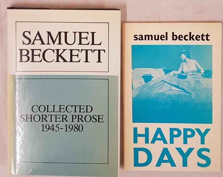 Samuel Beckett. Shorter Prose 1995-1980. Dust jacket and S. beckett. Happy Days. 1981. (2)