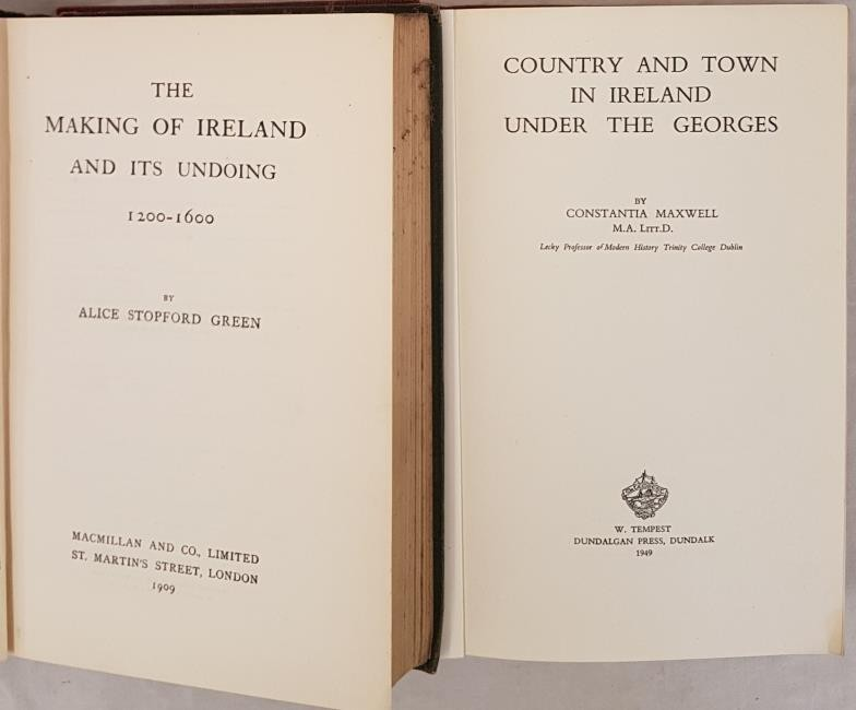 Alice Stopford Green. The Makings of Ireland and Its Undoing. 1909. 1st Map; and C. Maxwell. - Image 2 of 4