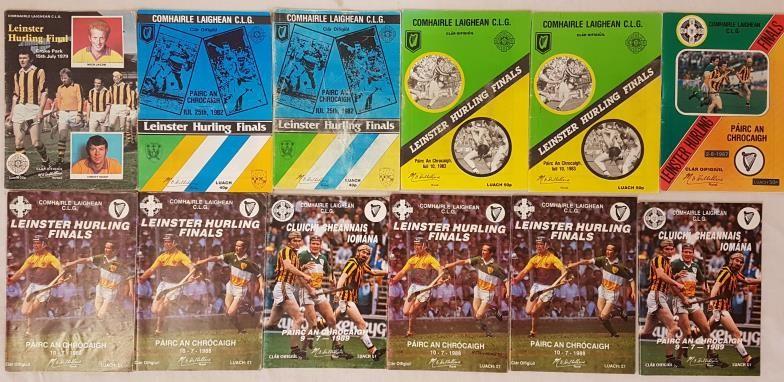Leinster Senior Hurling Final Programmes - 1979-1989 (12)