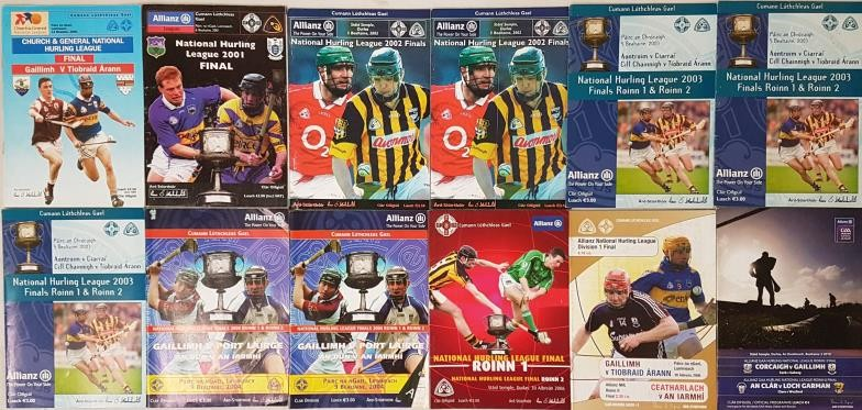 National Hurling League Final Programmes - 2000-2010 (12)
