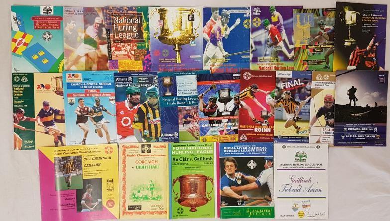 G.A.A. National Hurling League Finals - 1981, 1983, 1986, 1987, 1988, 1989, 1990, 1991, 1992, 1992/
