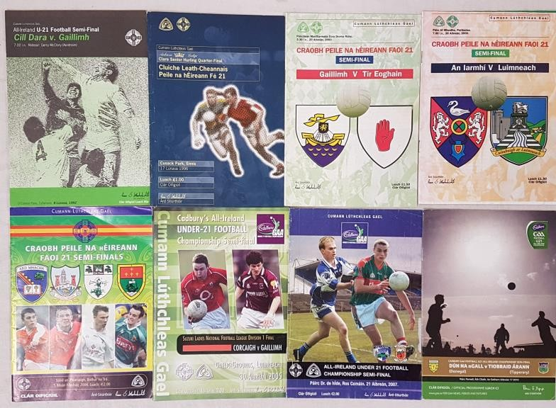 All Ireland Under 21 Football Final Programmes 1992-2010 (8)
