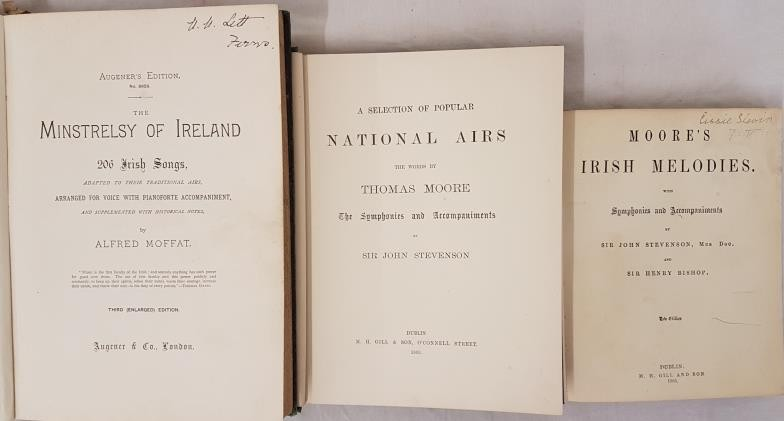 Moore's Irish melodies with Symphonies and Accompaniments. Dublin. 1903. Lovely copy in embossed - Image 2 of 2