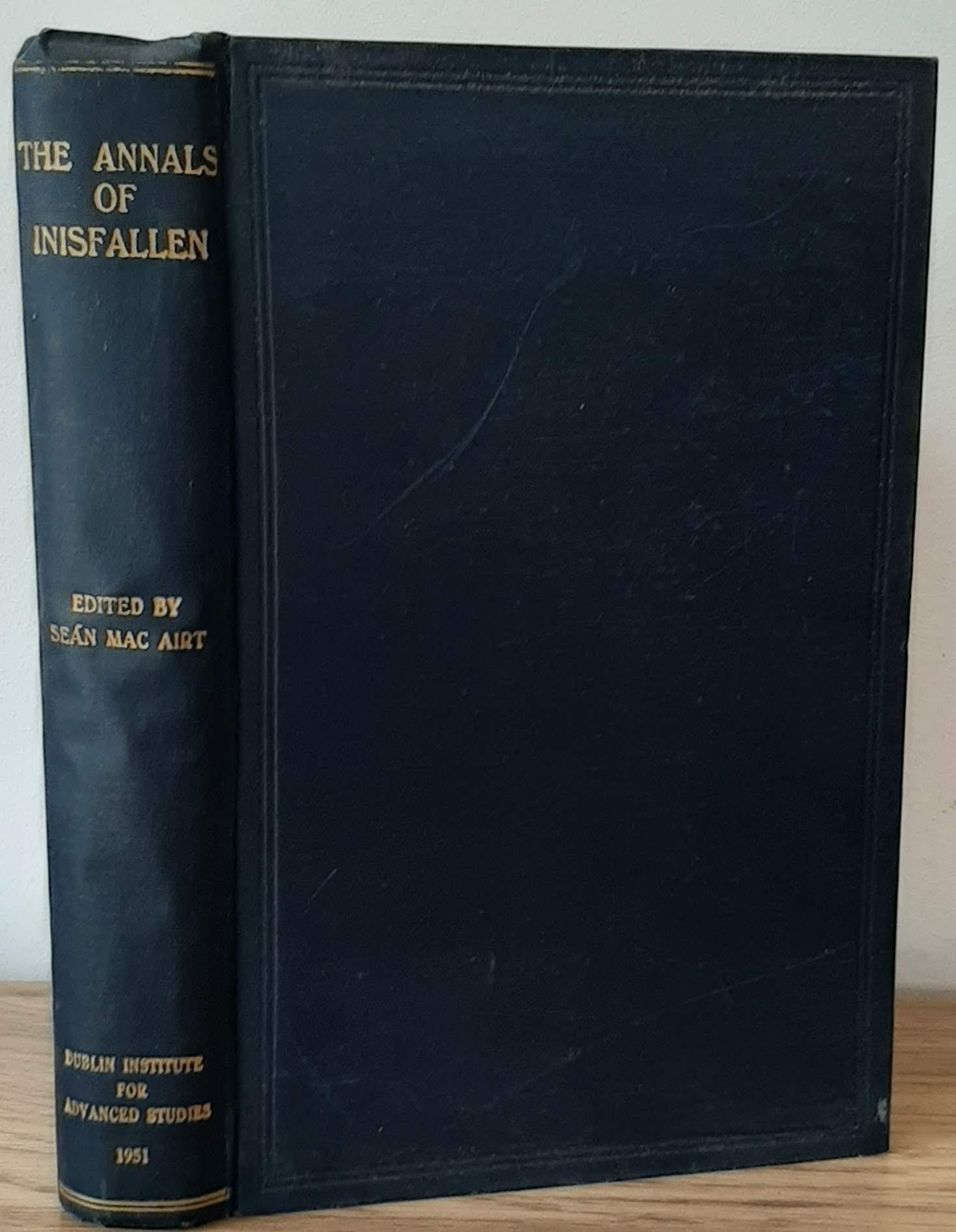 The Annals of Inisfallen (Mac Airt, 1951, 1st).