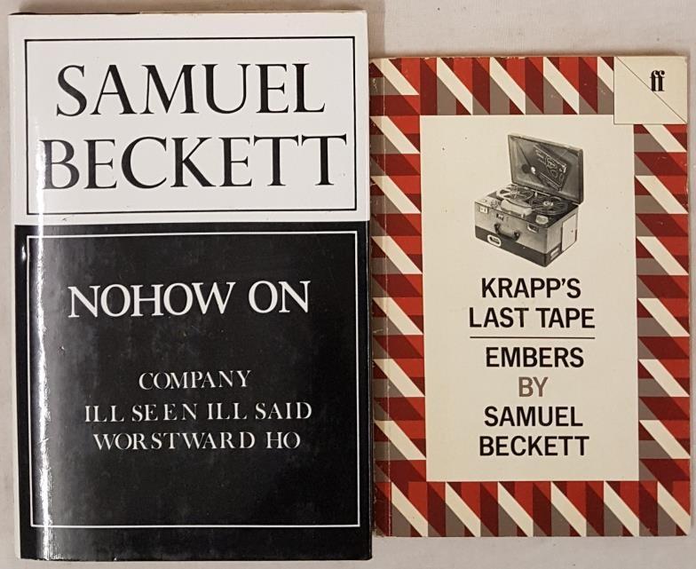 Samuel Beckett. Nohow On. 1989. 1st in pristine d.j. and S. Beckett. Krapp's Last Tape. 1983 (2)