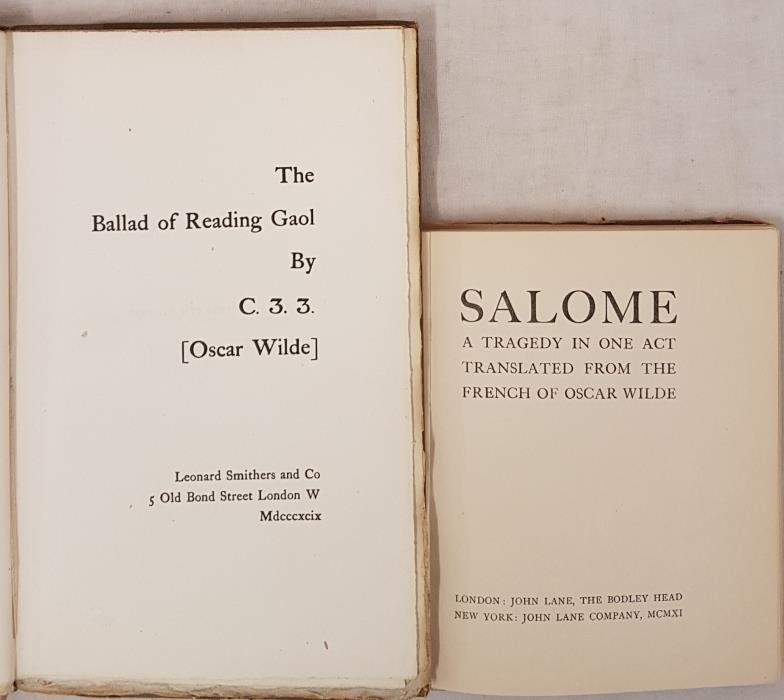 Oscar Wilde The Ballad of Reading Gaol. 7th Edition, 1898; and Oscar Wilde Salome, 1911 - Image 2 of 2