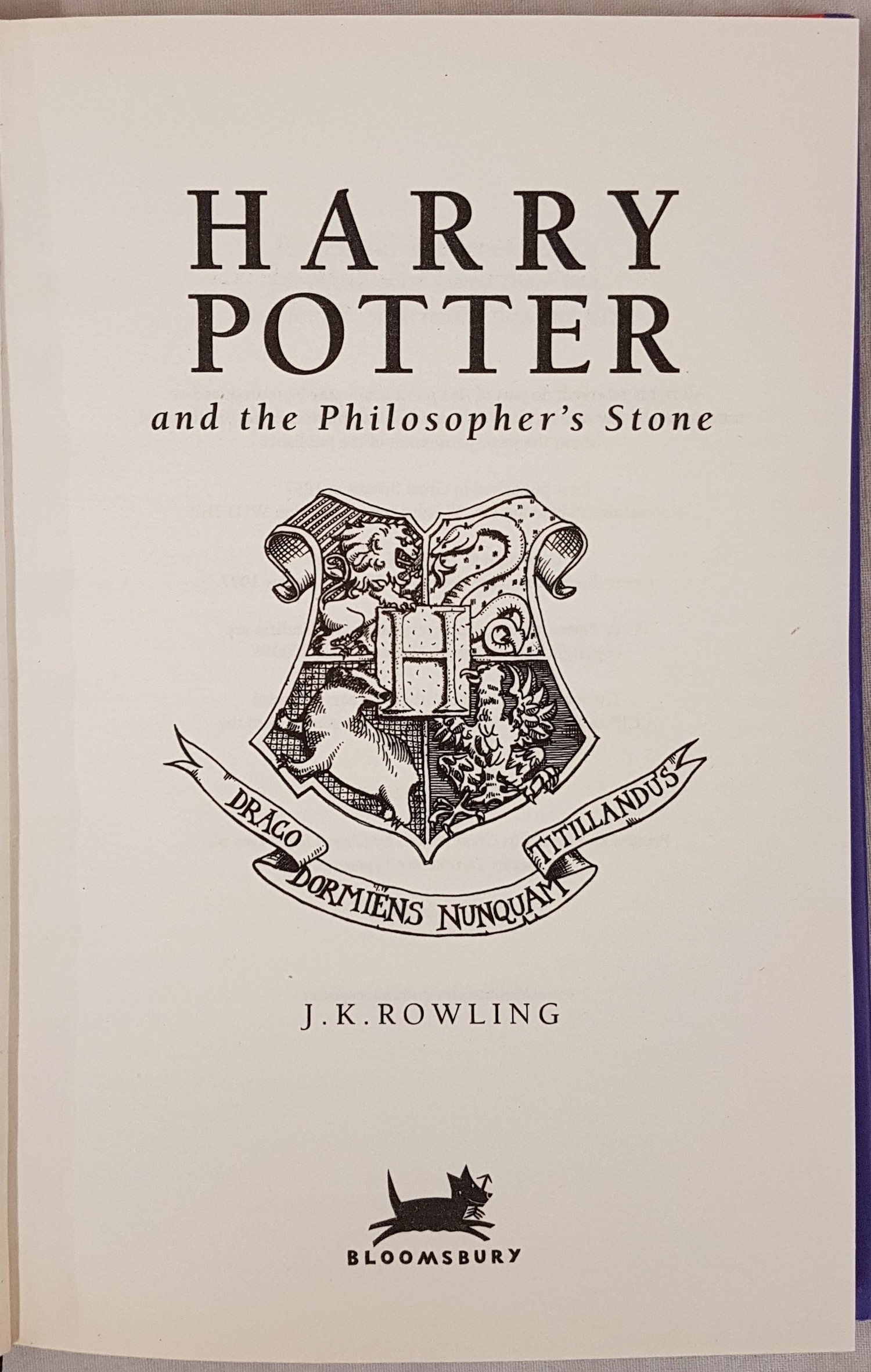 Harry Potter and the Philosopher's Stone, J.K. Rowling, 1st Edition, 28th printing, Bloomsbury, with - Image 2 of 3
