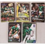 Bundle of Irish Rugby International Programmes for 2008 (7), 2009 (7), 2010 (5), 2017 (4)and 2018 (