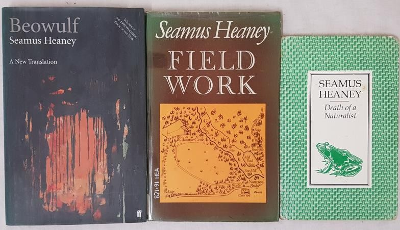 Field Work, Seamus Heaney, Faber and Faber, 1979, First Edition, in D/J, good condition. Beowulf,