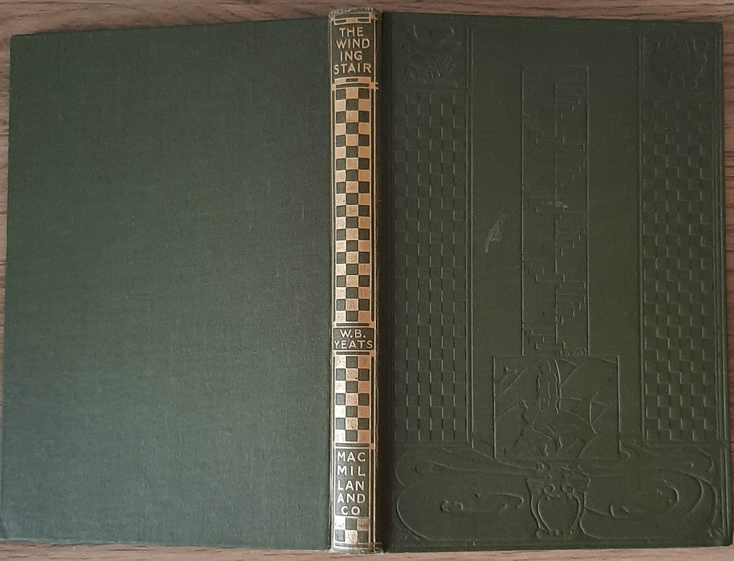 W.B. Yeats – The Winding Stairs and Other Poems (1933, 1st ed, 2nd impression). Intricate blind-