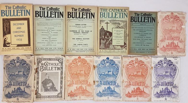 The Catholic Bulletin various parts: July 1916; Oct 1916; Jan 1917; Christmas 1917; Jan 1918;