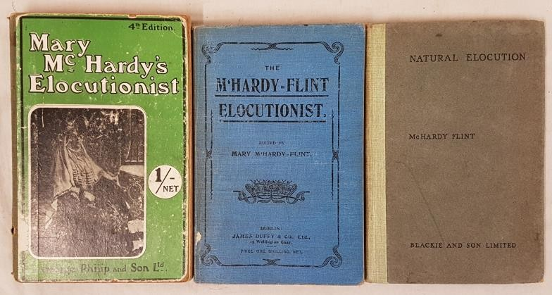 Mary McHardy's Elocutionist, 1907; pictorial cover 12mo. Mary McH was lady principal of the Dublin