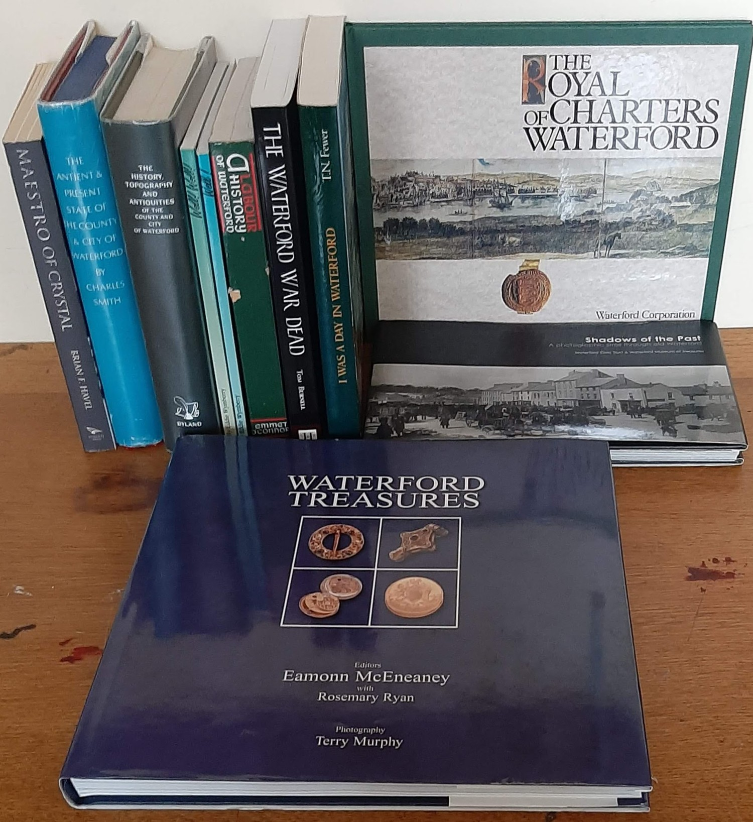 Waterford Interest. Ten volumes including A Labour History of Waterford (Signed by author, 1989);