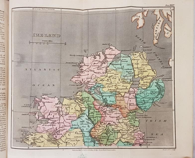 B.P. Capper. A Topographical Dictionary of the U.K. 1808. 2 volumes. Numerous hand coloured maps, - Image 6 of 6