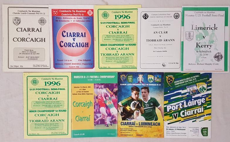 Munster Under 21 Football Rd1 and Semi Final Programmes 1993-2004 (9)