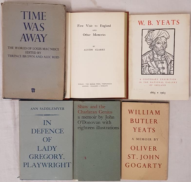 Shaw and the Charlatan Genius a Memoir by John O'Donovan. Dolmen Press. 1965 in dj; William Butler