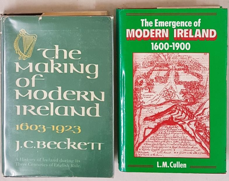 J.C. Beckett, The Making of Modern Ireland, 1603-1923, NY 1975, 8vo dj protected, vg. L.M. Cullen,