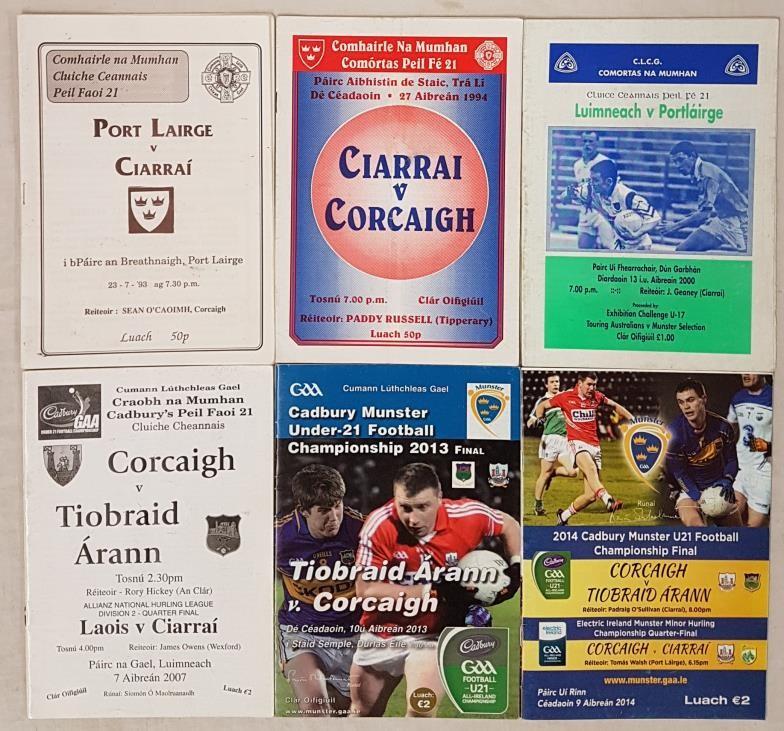 Munster Under 21 Football Final Programmes 1993-2014 (6)