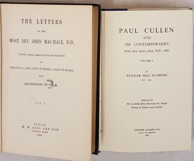 Paul Cullen and his Contemporaries, Vol 1, 1961. Dj, 8vo, 411 pps. The Letters of the Most Rev - Image 2 of 2