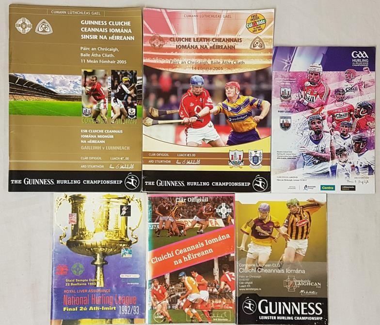 Hurling Programmes: Cork V Galway, 1986 (Final); Cork V Galway 2005 (Final); Kilkenny V Waterford (