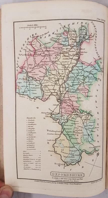 B.P. Capper. A Topographical Dictionary of the U.K. 1808. 2 volumes. Numerous hand coloured maps, - Image 3 of 6
