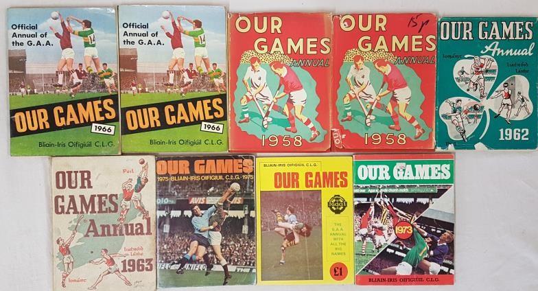 G.A.A. Our Games Annuals - 1958 (2), 1962, 1963, 1966 (2), 1973, 1975 & 1976 (9)