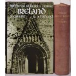 Medieval Religious Houses of Ireland by Gwynn and Hadcock. 1970 with folding map in pocket. in dj