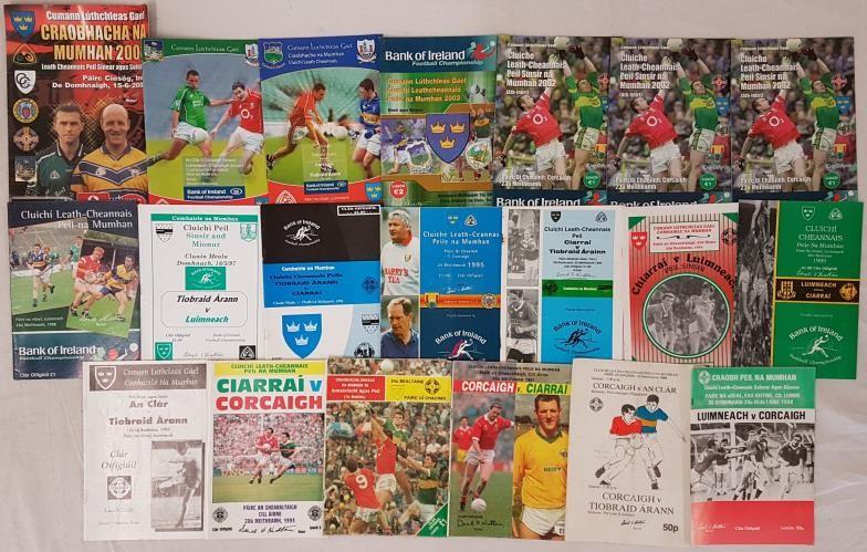 Munster Senior Football Rd1 and Semi Final Programmes - 1988-2004 (20)