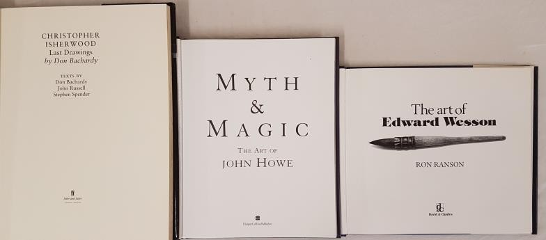 Art: Last Drawings of Christopher Isherwood, Faber 1990, Folio, dj. Myth and Magic, The Art of - Image 2 of 2