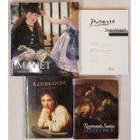Art: Picasso Bon Vivant, 4to 1996. Rembrandt Studies, 1991. First Impressions Rembrandt, 1992. Sarah