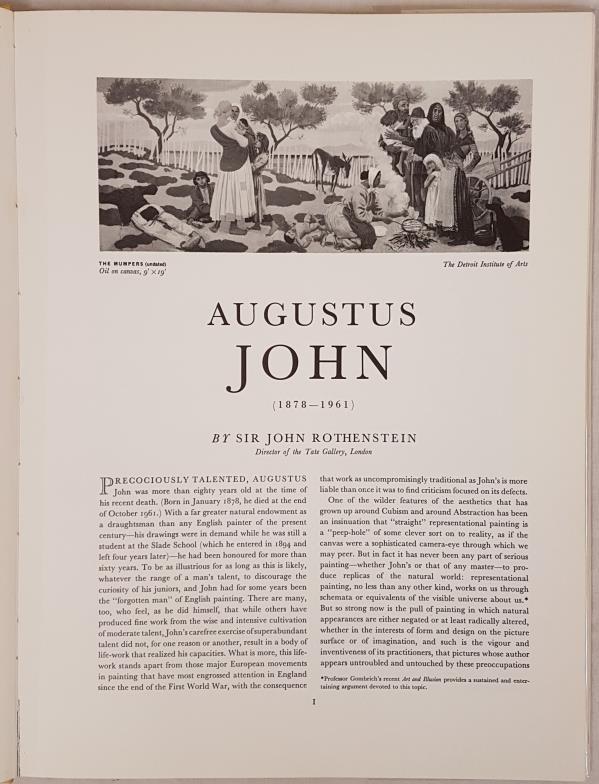 Augustus John, British Painters Series, Beaverbrook 1962; Folio, protected dj; lovely copy of now - Image 2 of 3