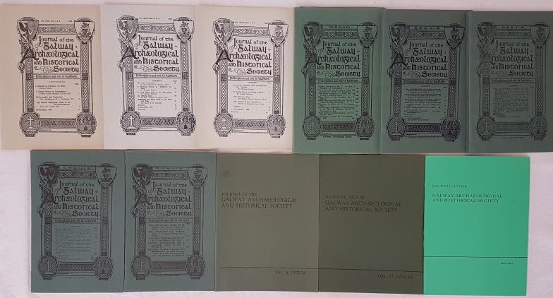 Journal of the Galway Archaeological & Historical Society. 1932/1984. 11 volumes of renowned